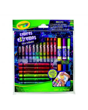 CRAYOLA SET CREATIVO TWISTABLES EXTREMOS 27 PIEZAS