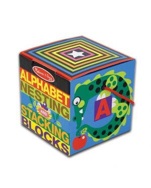 MELISSA AND DOUG ENGLISH ALPHABET NESTING AND STACKI