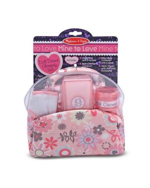 MELISSA AND DOUG DOLL NAPPY BAG SET