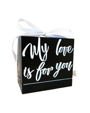 "CAJA ""MY LOVE IS FOR YOU"" 3D 25 TARJETAS"