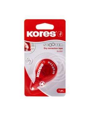 KORES CORRECTOR CINTA SCOOTER ROJO 8M X 4,2 MM BLISTER