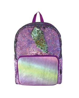 YOYO Y TOYS MOCHILA MAGIC SEQUIN DE LENTEJUELA PURPURA