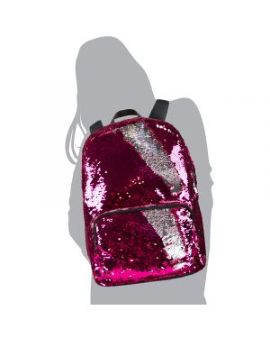 YOYO Y TOYS MOCHILA MAGIC SEQUIN DE LENTEJUELA ROSA